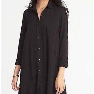 old navy button down shift dress